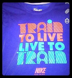 Train to live NIKE Drifit size medium shirt